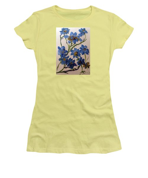 Cornflowers Cousins Women's T-Shirt (Junior Cut) by Judith Desrosiers