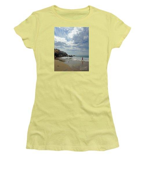 Women's T-Shirt (Junior Cut) featuring the photograph Corona Del Mar 3 by Cheryl Del Toro