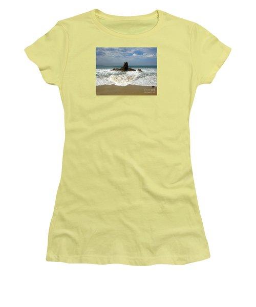 Women's T-Shirt (Junior Cut) featuring the photograph Corona Del Mar 4 by Cheryl Del Toro