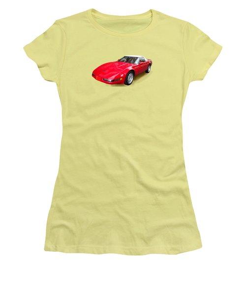 Corvette Women's T-Shirt (Junior Cut) by Eric Schiabor