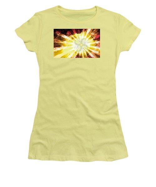 Cosmic Solar Flower Fern Flare 2 Women's T-Shirt (Junior Cut) by Shawn Dall