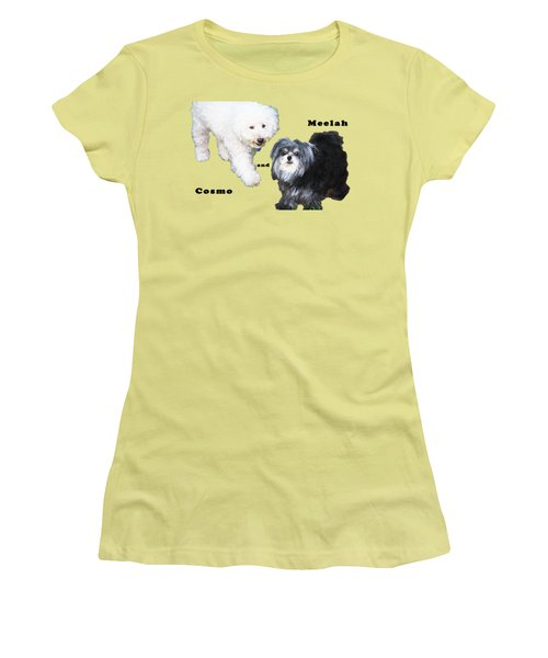 Cosmo And Meelah 2 Women's T-Shirt (Junior Cut) by Terry Wallace