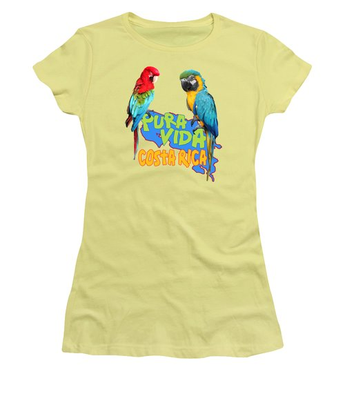 Costa Rican Macaws Women's T-Shirt (Junior Cut) by Linda Bissett