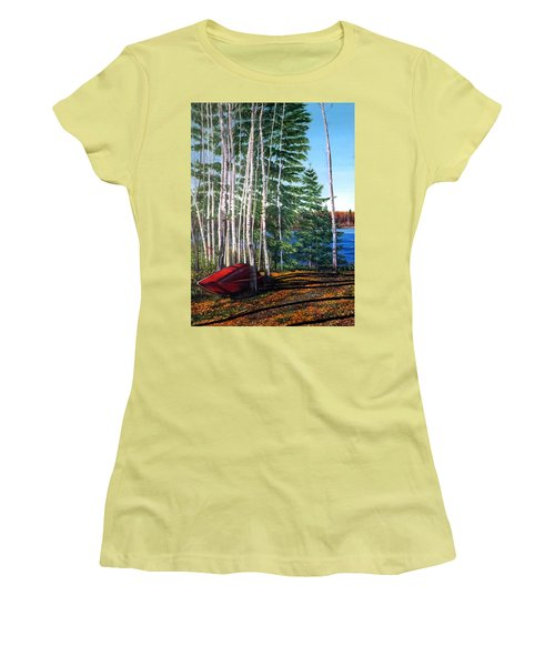 Cottage Country Women's T-Shirt (Junior Cut) by Marilyn McNish