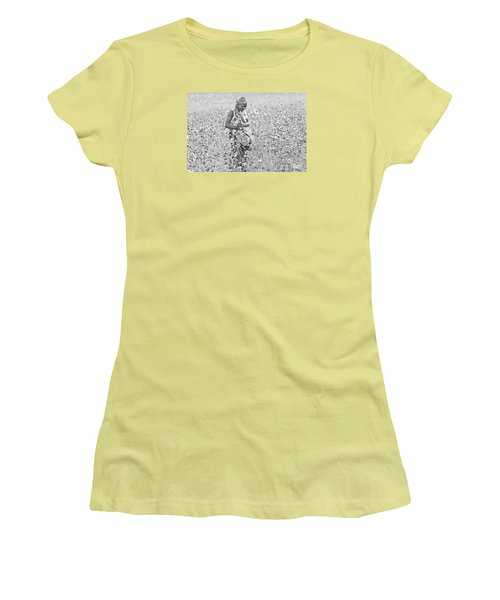 Women's T-Shirt (Junior Cut) featuring the photograph Cotton Picker by Pravine Chester