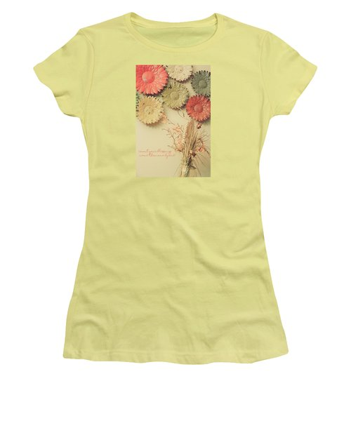 Count Your Blessings Women's T-Shirt (Junior Cut) by Bonnie Bruno