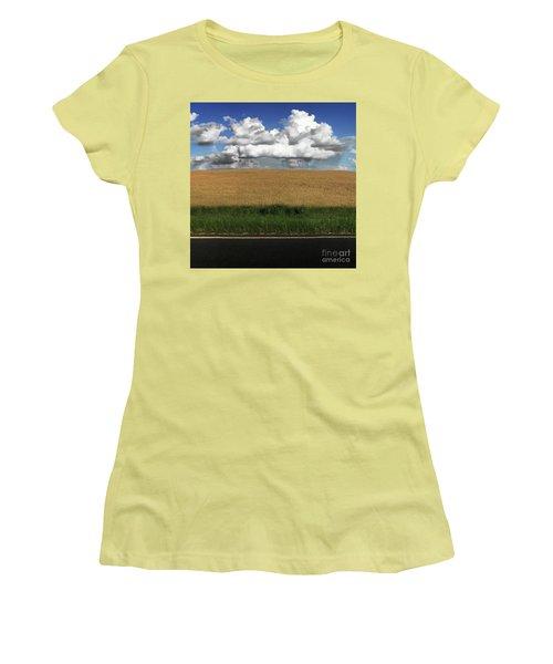 Women's T-Shirt (Junior Cut) featuring the photograph Country Field by Brian Jones