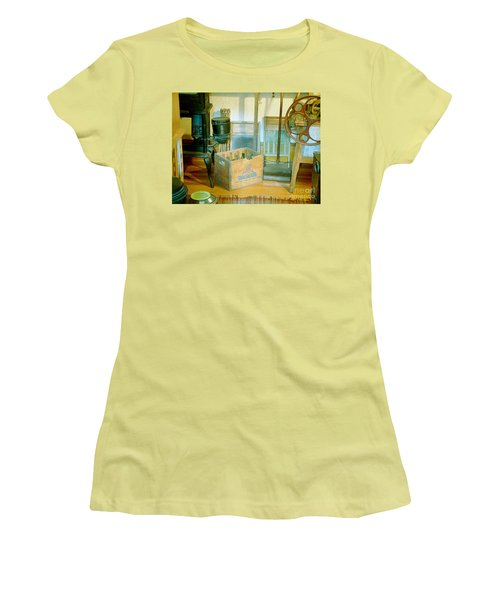 Women's T-Shirt (Junior Cut) featuring the painting Country Kitchen Sunshine II by RC deWinter