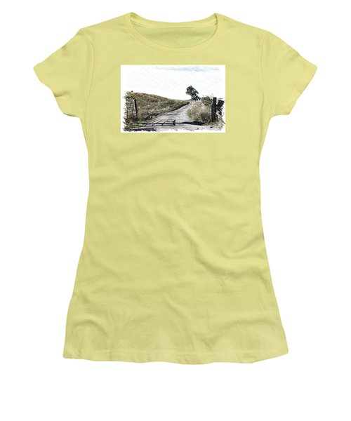 Country Lane Women's T-Shirt (Junior Cut) by RKAB Works