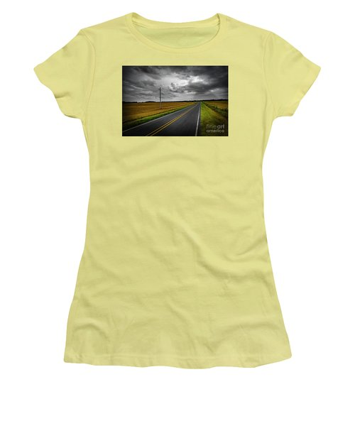 Country Road Women's T-Shirt (Junior Cut) by Brian Jones