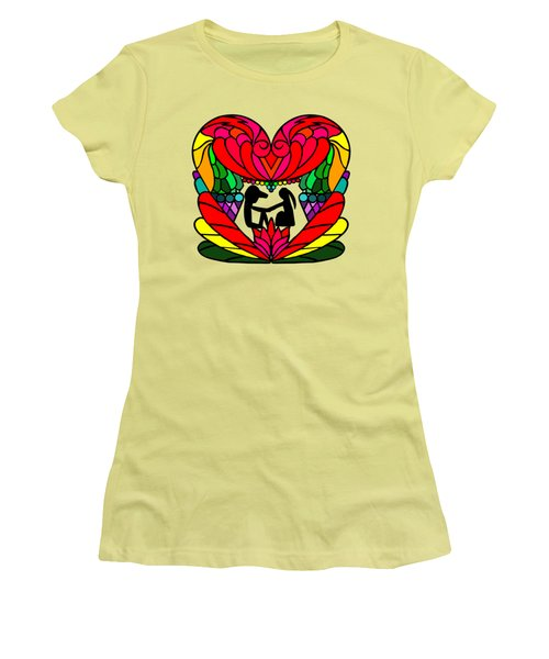 Couple In A Heart Women's T-Shirt (Athletic Fit)