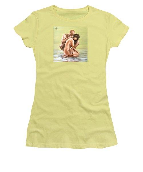 Couple Women's T-Shirt (Junior Cut) by Natalia Tejera