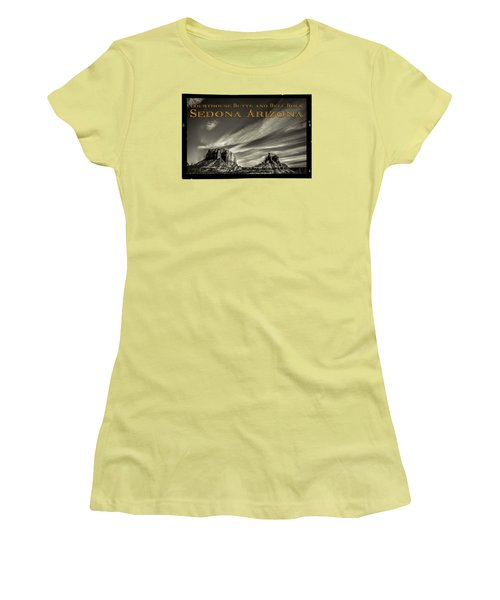Courthouse Butte And Bell Rock Sedona Arizona Women's T-Shirt (Athletic Fit)