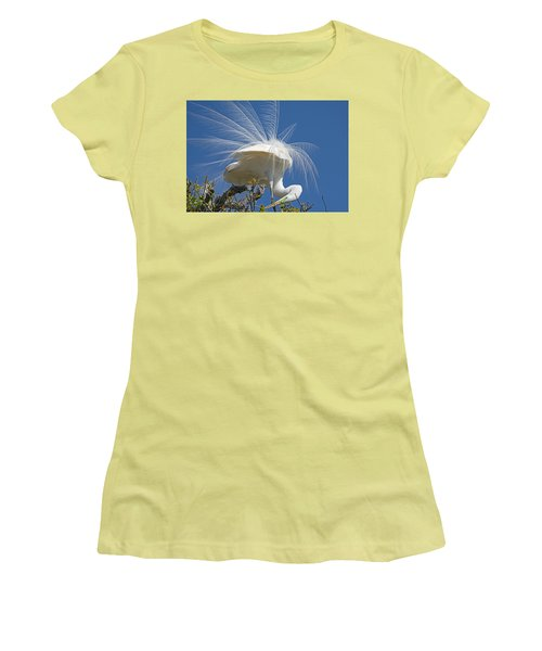 Courting Display Women's T-Shirt (Junior Cut) by Kenneth Albin