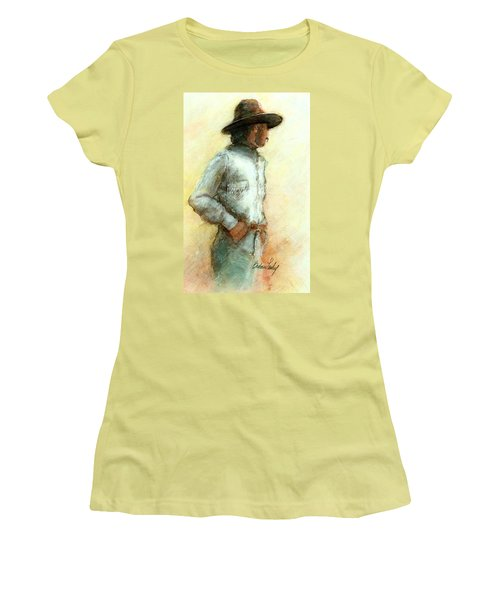 Cowboy In Thought Women's T-Shirt (Athletic Fit)