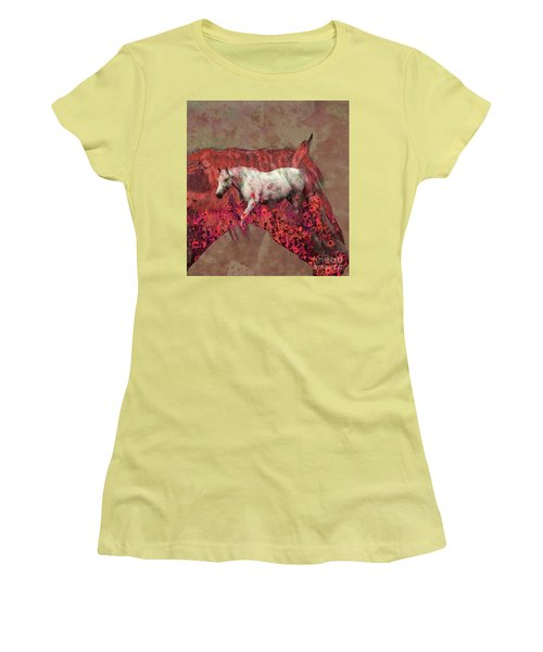 Cowgirl And Her Horses Women's T-Shirt (Junior Cut) by Toma Caul