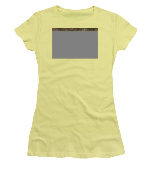 Women's T-Shirt (Junior Cut) featuring the photograph Coxing Kill In March #1 by Jeff Severson