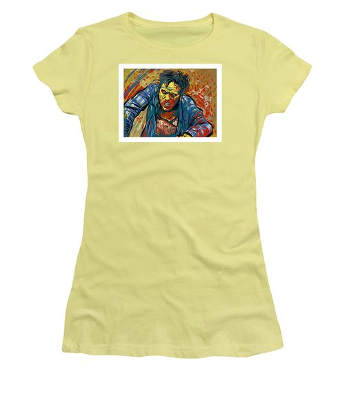 Women's T-Shirt (Athletic Fit) featuring the digital art Crabby Joe by Antonio Romero