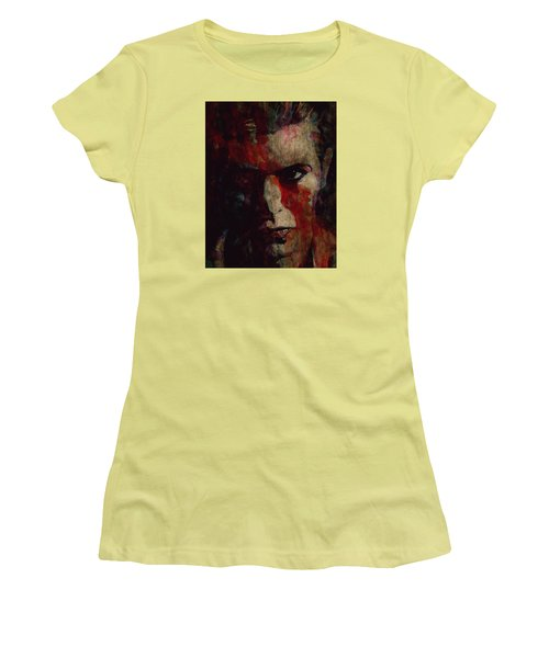 Cracked Actor Women's T-Shirt (Junior Cut) by Paul Lovering