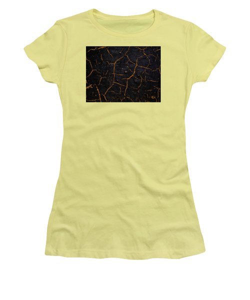 Women's T-Shirt (Junior Cut) featuring the photograph Cracking Paint by Jason Moynihan