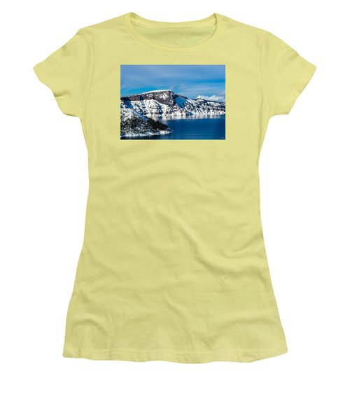 Crater Lake Women's T-Shirt (Athletic Fit)