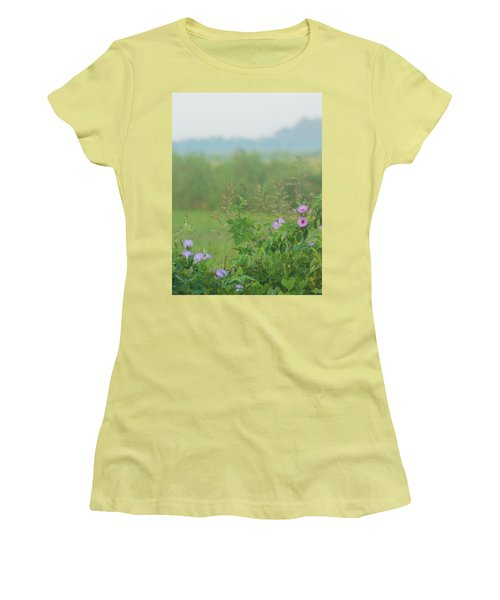 Women's T-Shirt (Junior Cut) featuring the photograph Crawfish And Rice Fields Of Dreams by John Glass