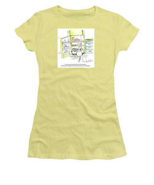 Crazy Cat Lady 0003 Women's T-Shirt (Junior Cut) by Lou Belcher