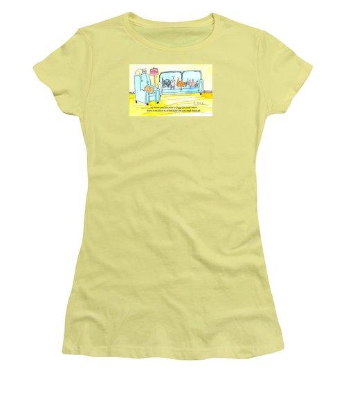 Crazy Cat Lady 0004 Women's T-Shirt (Junior Cut) by Lou Belcher