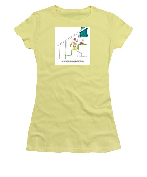 Crazy Cat Lady 0006 Women's T-Shirt (Athletic Fit)