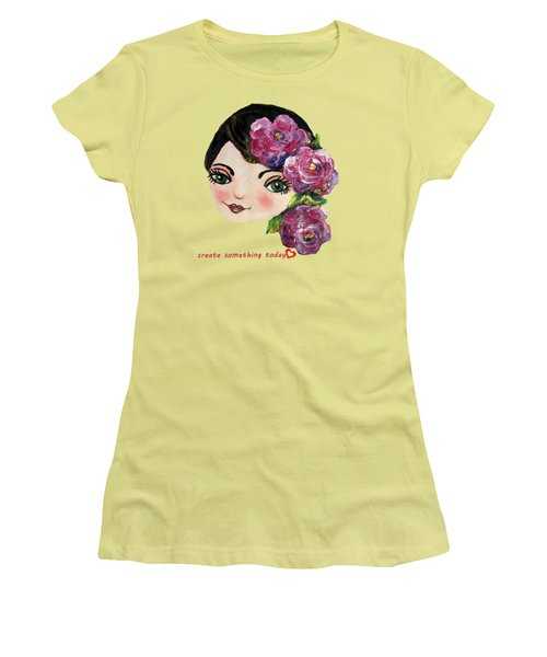 Creative Green Eye Women's T-Shirt (Junior Cut) by Vesna Martinjak