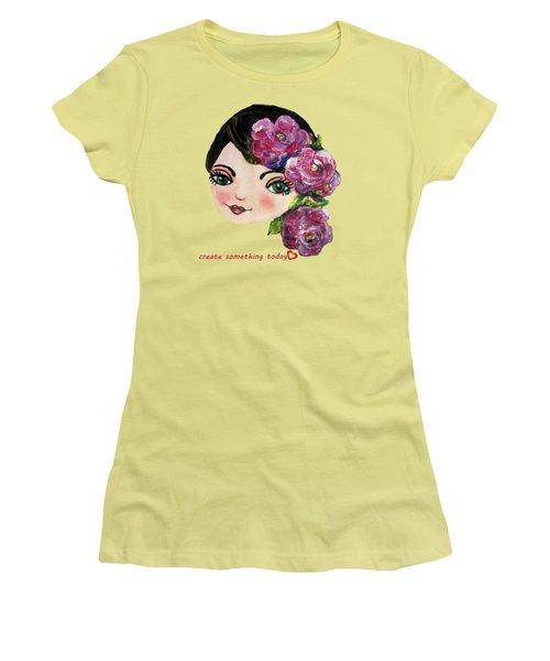 Creative Green Eye Women's T-Shirt (Athletic Fit)