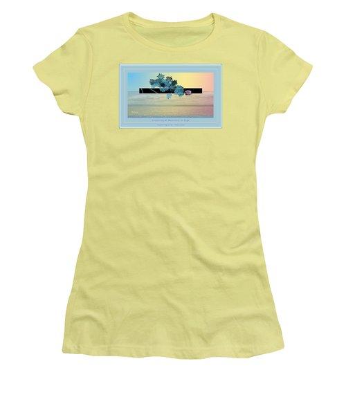Women's T-Shirt (Junior Cut) featuring the photograph Creativity And Awareness In Yoga by Felipe Adan Lerma