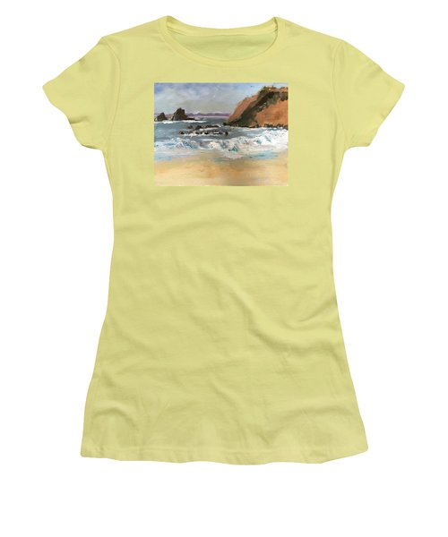 Crescent Beach At Laguna  Women's T-Shirt (Junior Cut) by MaryAnne Ardito