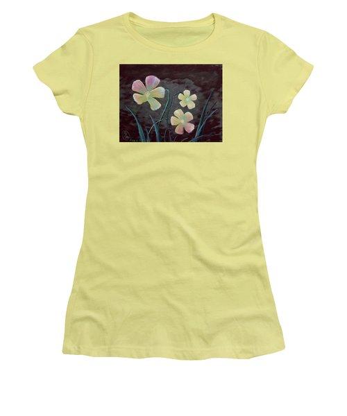 Crimson Flower Women's T-Shirt (Athletic Fit)