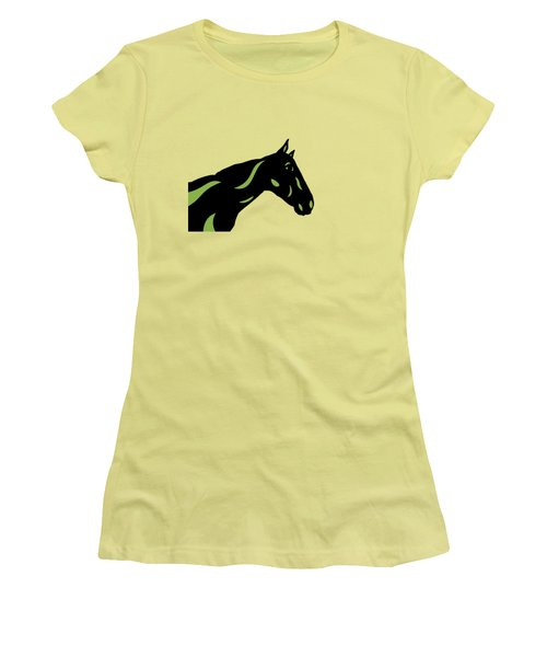 Crimson - Pop Art Horse - Black, Greenery, Purple Women's T-Shirt (Athletic Fit)