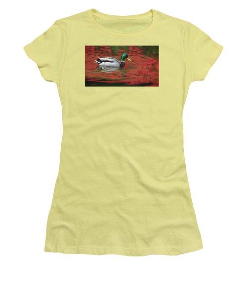 Crimson Reflections Women's T-Shirt (Junior Cut) by Elvira Butler
