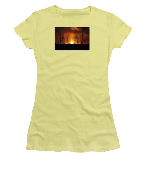 Crisp Sunset Women's T-Shirt (Athletic Fit)