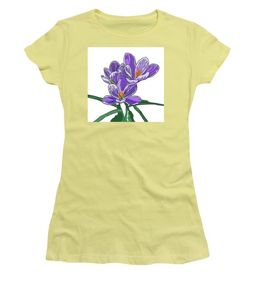 Crocus Women's T-Shirt (Athletic Fit)