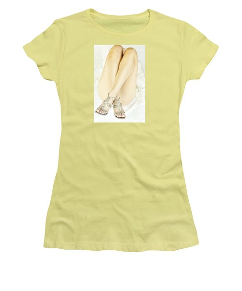 Women's T-Shirt (Junior Cut) featuring the photograph Crossed by Marat Essex