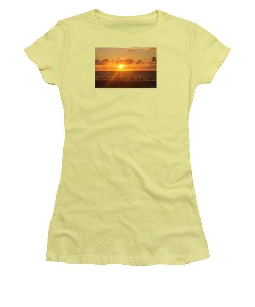 Women's T-Shirt (Junior Cut) featuring the photograph Crossing Paths by Robert Banach