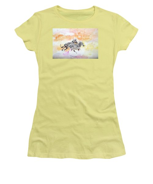 Crossing The River. Women's T-Shirt (Junior Cut) by Khalid Saeed
