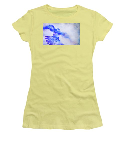 Crow In Flight Women's T-Shirt (Athletic Fit)