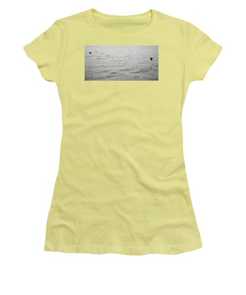 Crows In Flight Women's T-Shirt (Athletic Fit)