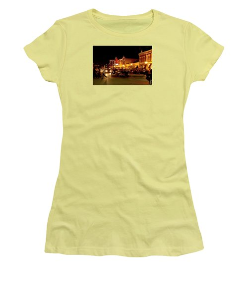 Cruise Night At The Car Show Women's T-Shirt (Junior Cut) by Karen McKenzie McAdoo