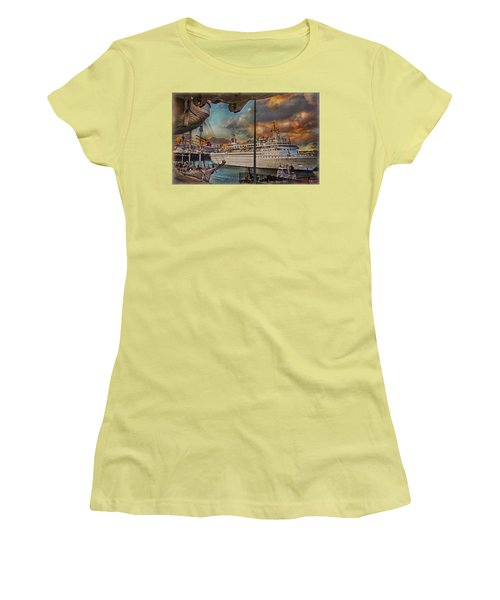 Women's T-Shirt (Junior Cut) featuring the photograph Cruise Port by Hanny Heim
