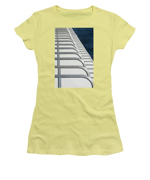 Cruise Ship's Balconies Women's T-Shirt (Athletic Fit)