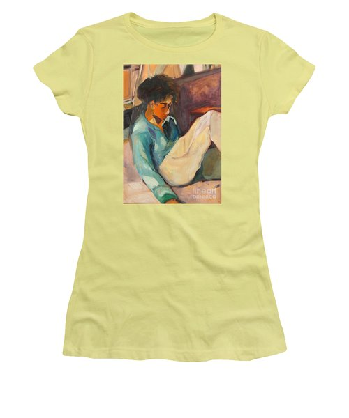 Women's T-Shirt (Junior Cut) featuring the painting Crystal by Daun Soden-Greene