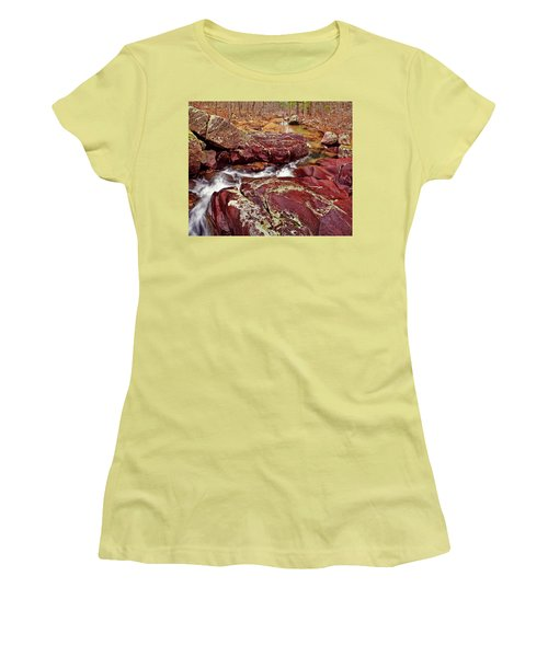 Cub Creek Shut-ins Women's T-Shirt (Junior Cut) by Robert Charity