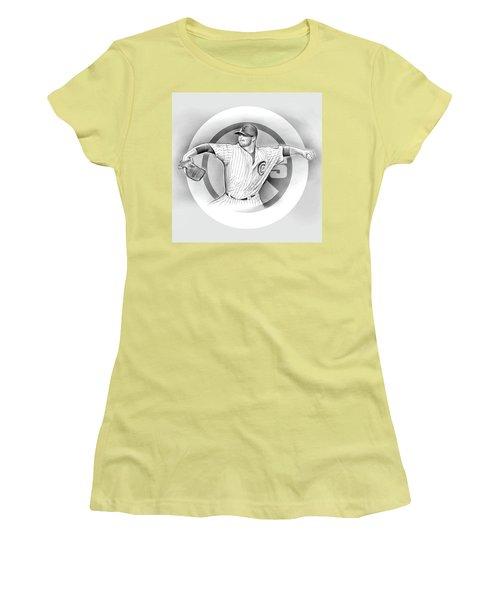 Cubs 2016 Women's T-Shirt (Junior Cut) by Greg Joens
