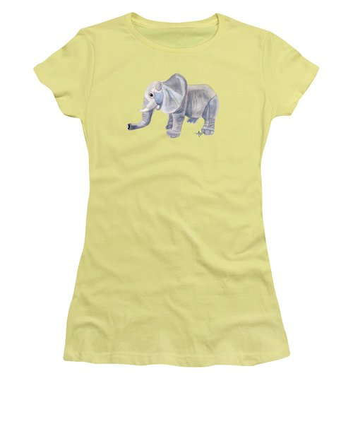 Cuddly Elephant II Women's T-Shirt (Junior Cut) by Angeles M Pomata